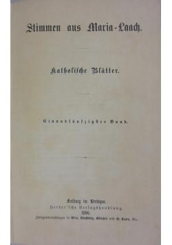 Stimmen aus Maria - Laach, 1896 r.