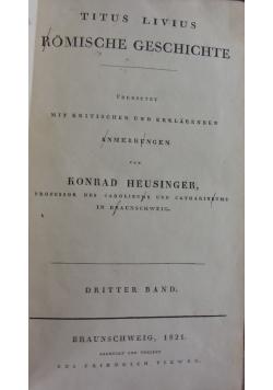 Titus Livius Romische Geschichte,TOM 3,  1821 r.