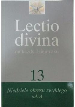 Lectio Divina na każdy dzień roku, t. 13: Niedziele okresu zwykłego, rok A