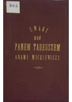 Uwaga nad Panem Tadeuszem ,1892r.