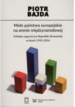Małe państwo europejskie na arenie międzynarodowej