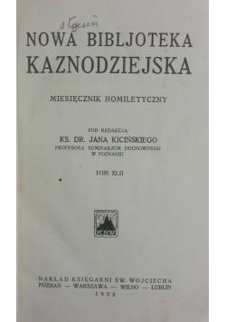 Nowa Bibljoteka Kaznodziejska, wyd. 1932