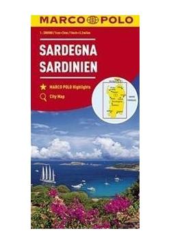 Mapa drogowa Sardynia 1:2000 000 MARCO POLO