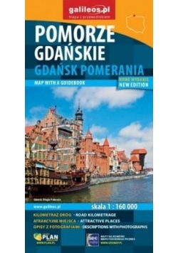 Mapa z przewodnikiem -Pomorze Gdańskie w.niemiecka