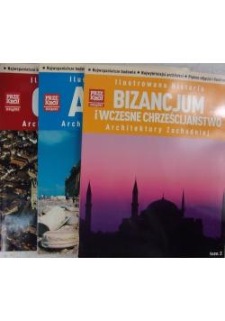 Ilustrowana historia Antyk/Bizancjum i wczesne chrześcijaństwo/Gotyk Architektury Zachodniej, Tom 1,2,3