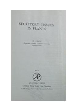 Secretory Tissues in Plants