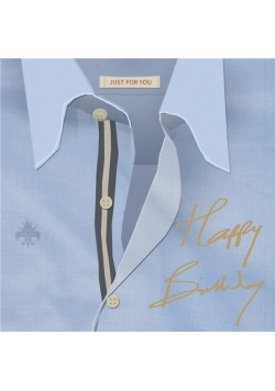 Karnet kwadrat z kopertą Urodziny Birthday Shirt