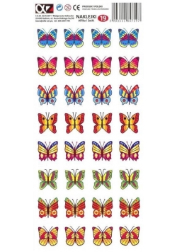 Naklejki Alfika i Zetki 19 Motyle