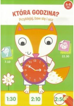 Przyklejaj, baw się i ucz - Która godzina? 6-8 lat