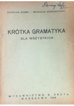 Krótka gramatyka dla wszystkich, 1949 r.