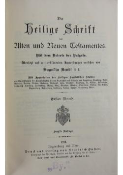 Biblia Sacra I., 1914 r.