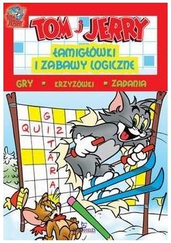 Tom i Jerry.Łamigłówki i zabawy logicz. (czerwone)