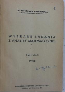 Wybrane zadania z analizy matematycznej, 1946r