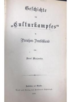 """Geschichte des """"Culturkampfes"""" in Preussen-Deutschland, 1886 r."""