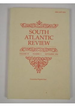 South Atlantic Review. Vol. 59. No. 3 1994