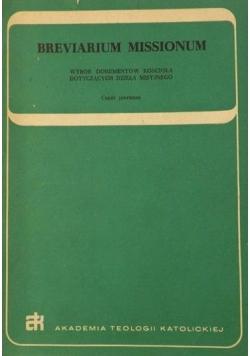 Breviarium Missionum, Tom I
