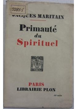 Primaute du spirituel, 1927r