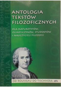 Antologia tekstów filozoficznych , Część II