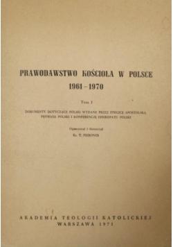 Prawodawstwo Kościoła w Polsce 1961-1970. Tom I