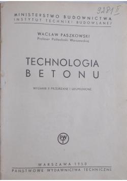 Technologia betonu,1950r.