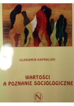 Wartości a poznanie socjologiczne