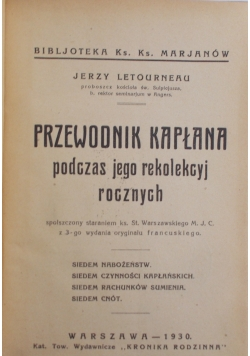 Przewodnik Kapłana, 1930 r.