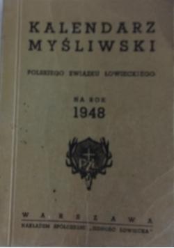 Kalendarz myśliwski na  rok 1948, 1948 r.