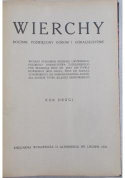 Wierchy, rok drugi, 1924 r