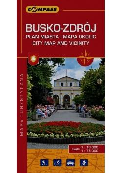 Busko-Zdrój Plan miasta i mapa okolic mapa turystyczna