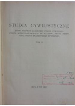 Studia cywilistyczne, t.VI