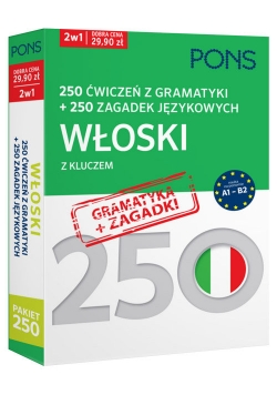 250 ćwiczeń z gramatyki Włoski +250 zagadek
