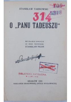 O  panu Tadeuszu, 1922r