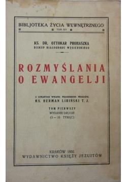 Rozmyślania o Ewangelji, 1931r.