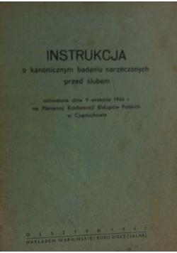 Instrukcja o kanonicznym badaniu narzeczonych przed ślubem, 1947 r.