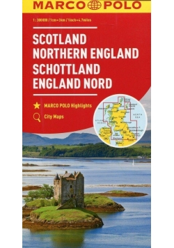 Mapa samochodowa - Szkocja, Anglia Północna