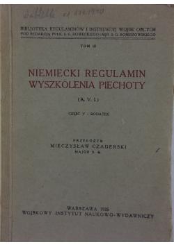 Niemiecki Regulamin Wyszkolenia Piechoty, 1926r