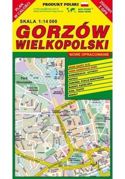 Gorzów Wielkopolski 1:14 000 plan miasta PIĘTKA