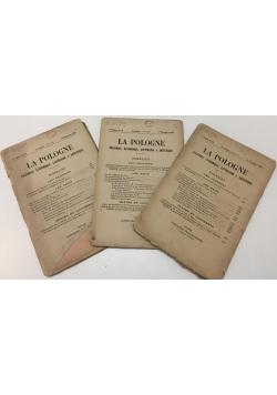 La Pologne, zestaw 3 numerów, 1920