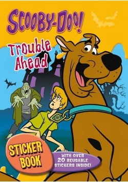 Scooby Doo. Kolorowanka z naklejkami - Kłopoty.