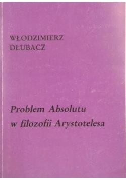 Problem Absolutu w filozofii Arystotelesa