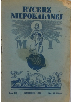 Rycerz Niepokalanej Grudzień 1936r.
