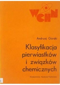 Klasyfikacja pierwiastków i związków chemicznych