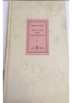 Vom sinn der Schwermut, 1949 r.