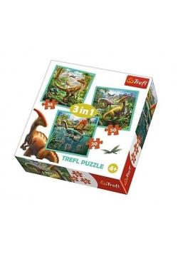 Puzzle 3w1 Niezwykły świat dinozaurów TREFL