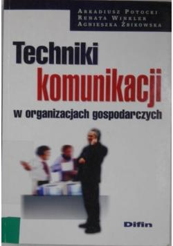 Techniki kounikacji w organizacjach gospodarczych