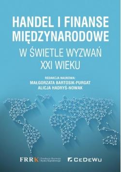 Handel i finanse międzynarodowe w świetle wyzwań..