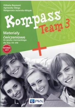 Kompass Team 3 Materialy ćwiczeniowe do języka niemieckiego dla klas VII-VIII