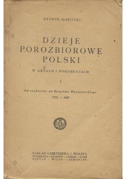 Dzieje Porozbiorowe Polski,I