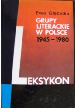 Grupy literackie w Polsce 1945-1980