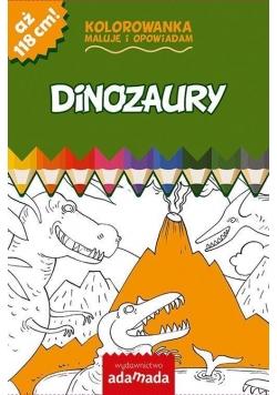 Kolorowanka. Maluję i opowiadam. Dinozaury